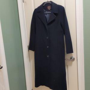 Ann Klein wool coat size 4 Navy 2019